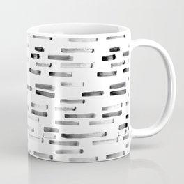 Noir grunge || painted stripes Coffee Mug
