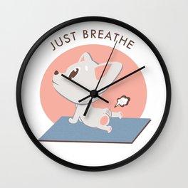 Yoga Kawaii Dog Wall Clock