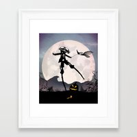 jack skellington Framed Art Prints featuring Jack Skellington Kid by Andy Fairhurst Art