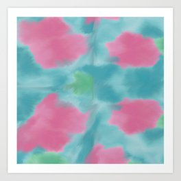 Abstract Pop of Poppies Art Print