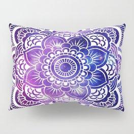 Mandala purple blue galaxy space Pillow Sham