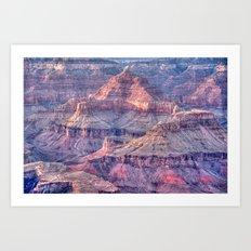 Grand Canyon Evening Vivid Art Print