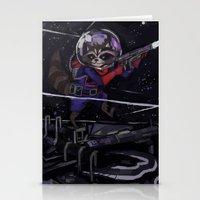 rocket raccoon Stationery Cards featuring Rocket Raccoon  by kuri