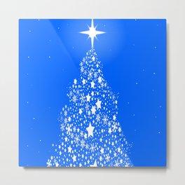 Star Spangled Snowflake Christmas Tree Metal Print