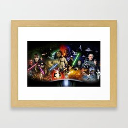 Collages All Chapters SW Framed Art Print