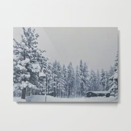 Mammoth Lakes: Center Weighted Blue Metal Print