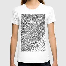 Cherry Blossoms Mandala by Kent Chua T-shirt