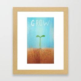 """Grow"" Framed Art Print"