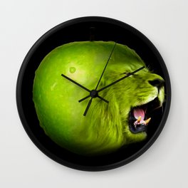 Angry apple Wall Clock