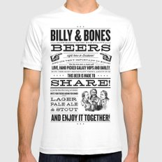 Billy & Bones Hand Crafted Beer Mens Fitted Tee MEDIUM White