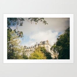 Parisian Building Through Trees Art Print