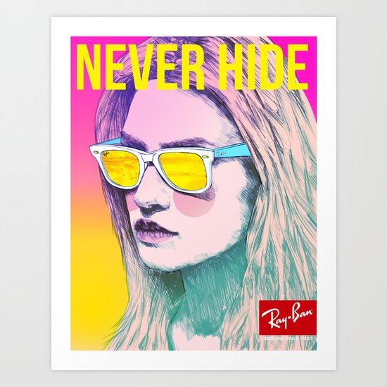 Ray-Ban Never Hide Art Print
