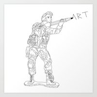 military Art Prints featuring Military Art by Dario Olibet