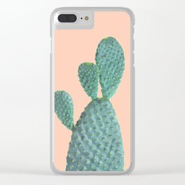 Cactus Watercolor Clear iPhone Case