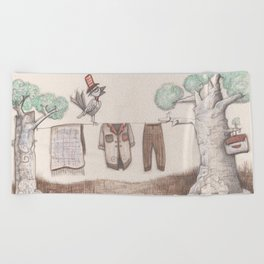 A bird Beach Towel