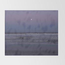 Ocean Moonrise Throw Blanket
