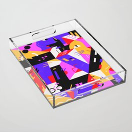 Multi-dimensional city Acrylic Tray