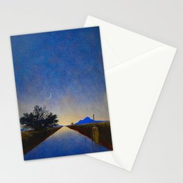 Hot Springs, Yavapai, Arizona landscape painting by Maxfield Parrish Stationery Cards