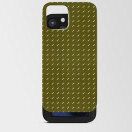 DASH DASH LINEN . MID-CENTURY OLIVE iPhone Card Case