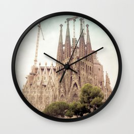 Sagrada Familia in Barcelona Wall Clock