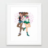 sailor jupiter Framed Art Prints featuring Sailor Jupiter by Jen Bartel