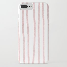 Simply Drawn Vertical Stripes in Rose Gold Sunset iPhone Case