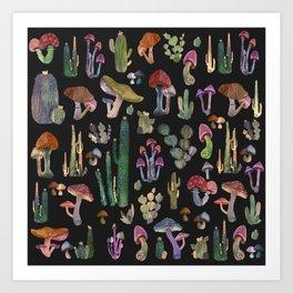 Mushrooms Pattern Art Print