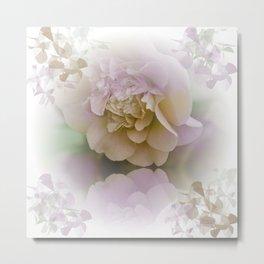 Romantic Camellia / floral design in soft color tones Metal Print