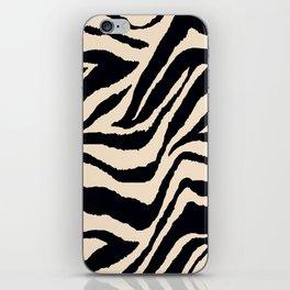 Zebra Animal Print Black and off White Pattern iPhone Skin