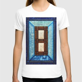 Turquoise - blue inlay T-shirt