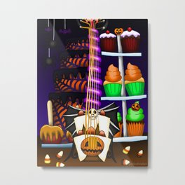 Fusion Keyblade Guitar #114 - Pumpkinhead & Sweet Dream Metal Print