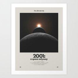 2001: A Space Odyssey (1968) Minimalist Poster Art Print