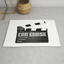 Car Chase Clapperboard Rug