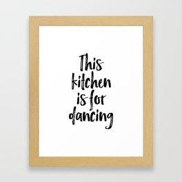 Kitchen Wall Art, Kitchen Poster, My Kitchen My Rules, Home Decor Framed Art Print