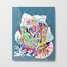 Filanes-45 couleur fond bleu Metal Print