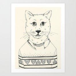 Sweater Cat Art Print