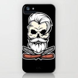 Vintage Barber Skull iPhone Case