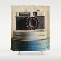 aperture Shower Curtains featuring Old Camera by ThePhotoGuyDarren