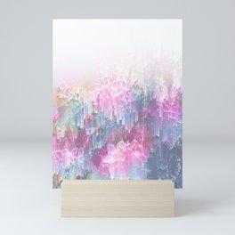Magical Nature - Glitch Pink & Blue Mini Art Print