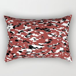 Camouflage: Red II Rectangular Pillow