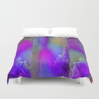 industrial Duvet Covers featuring Industrial Wings by Jennifer Warmuth Art And Design