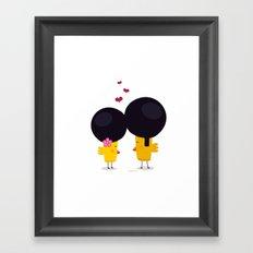 Afro Love Framed Art Print
