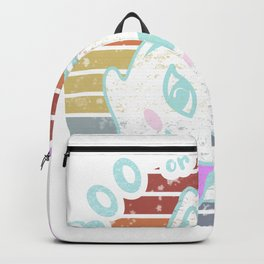 Funny Spooky Cat Ghost Boo or Purr Backpack