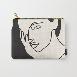 Drawing female face portrait I Carry-All Pouch
