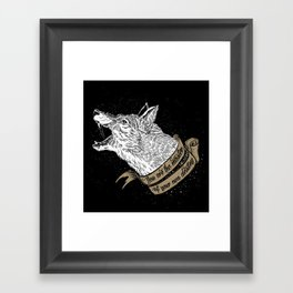 Wolf Protector (Black n Bronze collection) Framed Art Print
