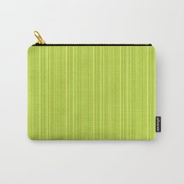 Lime Green Pinstripe Carry-All Pouch