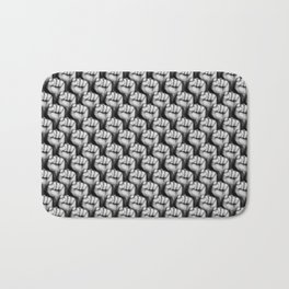 Fight the power / 3D render of raised fists Bath Mat