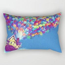 Up Balloons Rectangular Pillow