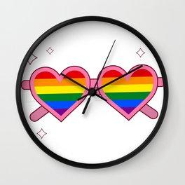 Rainbow Sunglasses Wall Clock
