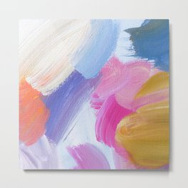 Amy Abstract Painting Metal Print